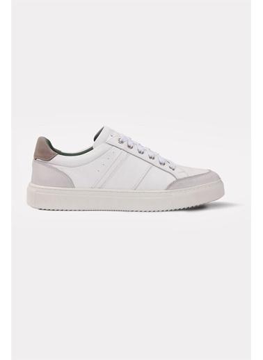 Krähe Zax Beyaz Deri Minimal Sneaker Beyaz